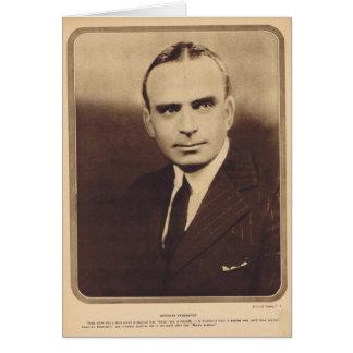 Retrato del vintage de Douglas Fairbanks Tarjeta De Felicitación
