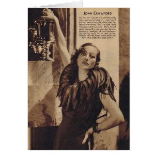 Retrato del vintage de Joan Crawford con las pluma Tarjeta De Felicitación