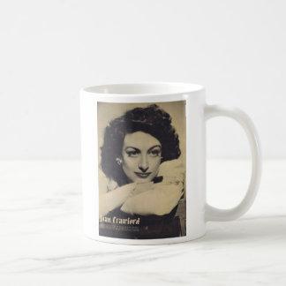 Retrato del vintage de Joan Crawford Taza Básica Blanca