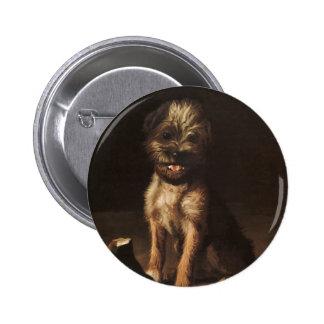 retrato del vintage de la reproducción del botón pin redondo de 2 pulgadas