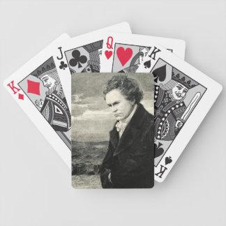 Retrato del vintage de Ludwig van Beethoven Baraja De Cartas