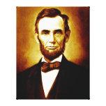 Retrato del vintage de presidente Abraham Lincoln Impresiones En Lienzo Estiradas