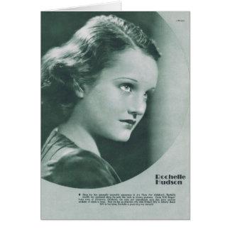Retrato del vintage de Rochelle el Hudson Felicitacion