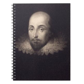 Retrato del vintage de Shakespeare Libretas