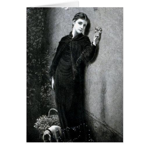 """Retrato del vintage de """"Stella"""" Tarjetas"""