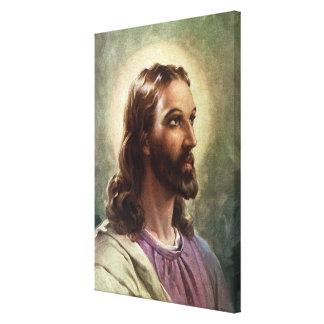 Retrato del vintage del Jesucristo, gente Impresión En Lienzo