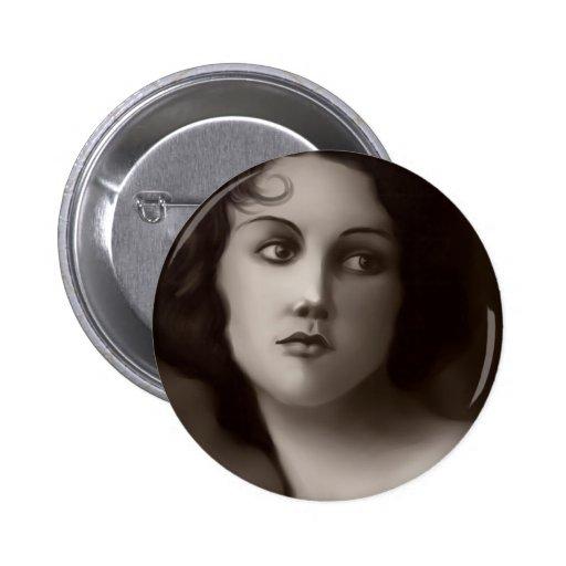 Retrato del vintage pins