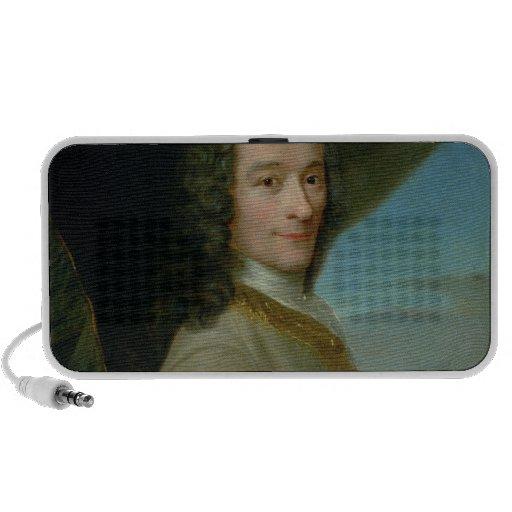Retrato del Voltaire joven Altavoces De Viaje