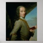 Retrato del Voltaire joven Posters