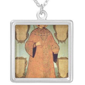 Retrato del zar Fyodor Alexeevich Colgante Cuadrado