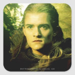 Retrato delantero de Legolas Pegatinas Cuadradas