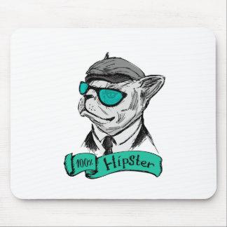 Retrato dibujado mano de la moda del inconformista mousepad