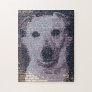 retrato digital de las ilustraciones del perro puzzle