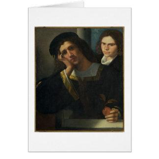 Retrato doble, c.1502 tarjetón