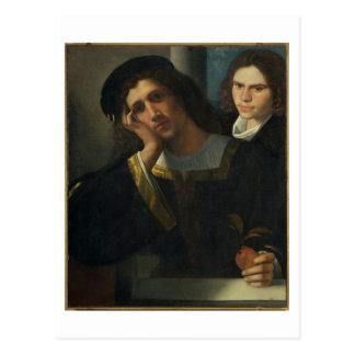 Retrato doble, c.1502 tarjetas postales