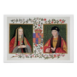 Retrato doble de Elizabeth de York (1465-1503) a Póster