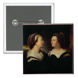 Retrato doble de Marie Serre Pin Cuadrado