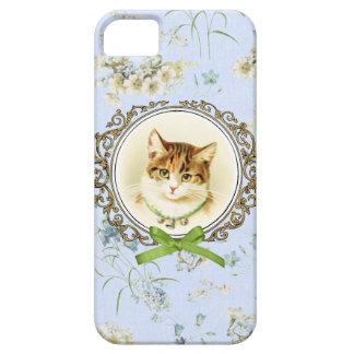 Retrato dulce del gato del vintage iPhone 5 Case-Mate funda