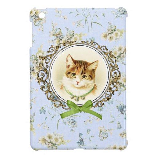 Retrato dulce del gato del vintage iPad mini carcasa