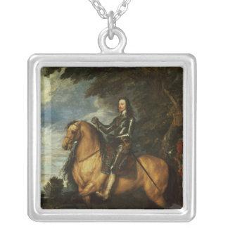 Retrato ecuestre de Charles I c.1637-38 Collar Plateado