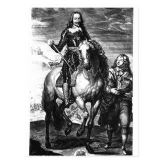 Retrato ecuestre de Charles I Tarjeta Postal