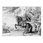 Retrato ecuestre de Charles II con dioses Postal