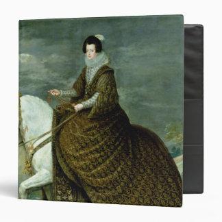 """Retrato ecuestre de Elisabeth de Francia Carpeta 1 1/2"""""""