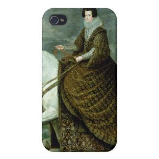 Retrato ecuestre de Elisabeth de Francia iPhone 4/4S Carcasas