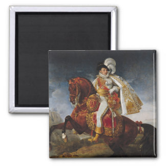 Retrato ecuestre de Jerome Bonaparte 1808 Imán De Nevera