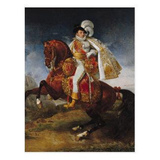 Retrato ecuestre de Jerome Bonaparte 1808 Postal