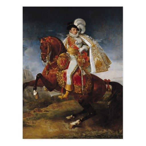 Retrato ecuestre de Jerome Bonaparte 1808 Postales