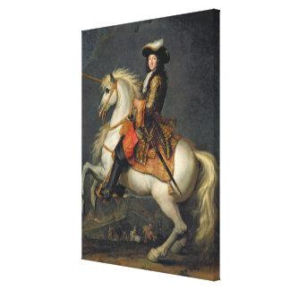 Retrato ecuestre de Louis XIV Impresión En Lona Estirada