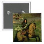 Retrato ecuestre de Louis XIV Pin Cuadrada 5 Cm