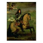 Retrato ecuestre de Louis XIV Tarjeta Postal