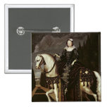 Retrato ecuestre de Marie de Medici Pin Cuadrado