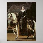 Retrato ecuestre de Marie de Medici Póster