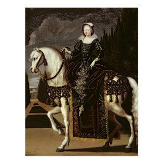 Retrato ecuestre de Marie de Medici Tarjeta Postal