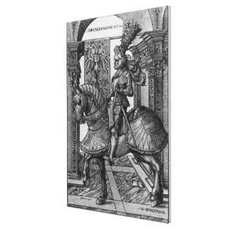 Retrato ecuestre de Maximiliano I c.1508 Lienzo Envuelto Para Galerias