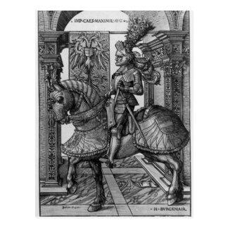 Retrato ecuestre de Maximiliano I c.1508 Postal