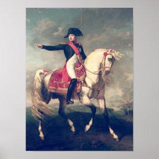 Retrato ecuestre de Napoleon I 1810 Póster