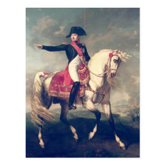 Retrato ecuestre de Napoleon I 1810 Tarjetas Postales