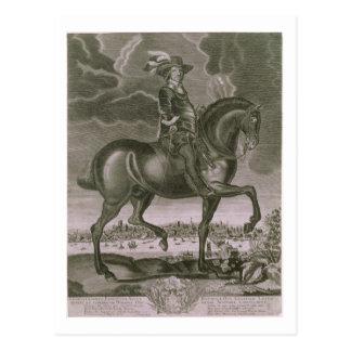 Retrato ecuestre de Oliver Cromwell (1599-1658) Tarjeta Postal
