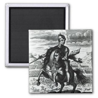 Retrato ecuestre de Oliver Cromwell Imán Cuadrado
