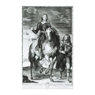 Retrato ecuestre de Oliver Cromwell Impresión En Lienzo