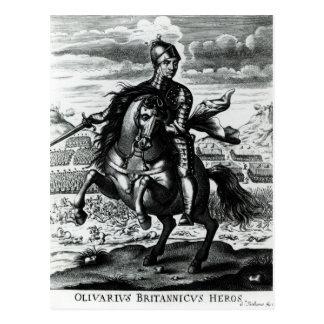 Retrato ecuestre de Oliver Cromwell Postales