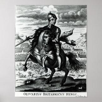 Retrato ecuestre de Oliver Cromwell Póster