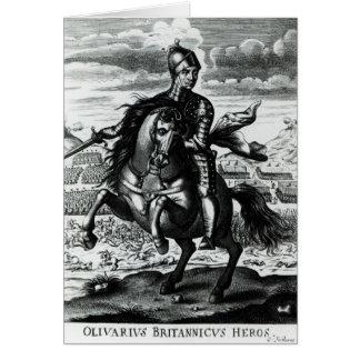 Retrato ecuestre de Oliver Cromwell Tarjeta De Felicitación
