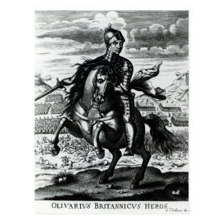 Retrato ecuestre de Oliver Cromwell Tarjeta Postal