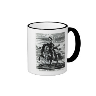 Retrato ecuestre de Oliver Cromwell Taza De Dos Colores