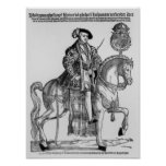 Retrato ecuestre de Philip II de España Poster